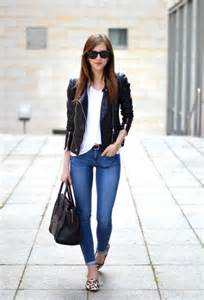 how to wear black leather jacket this spring fashiongum com