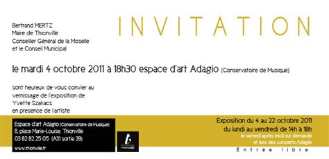 Exemple De Lettre D Invitation A Une Inauguration Looking For V Maud Lucien