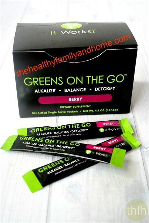 It Works Greens Detox Diet by Quot Greens On The Go Berry Quot It Works Global The Healthy