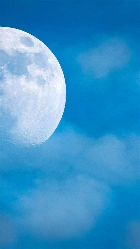wallpaper full moon blue sky hd nature