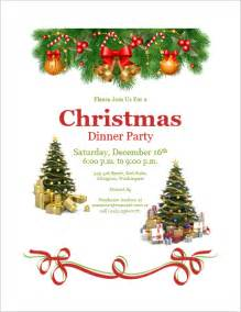 download christmas dinner party invitation