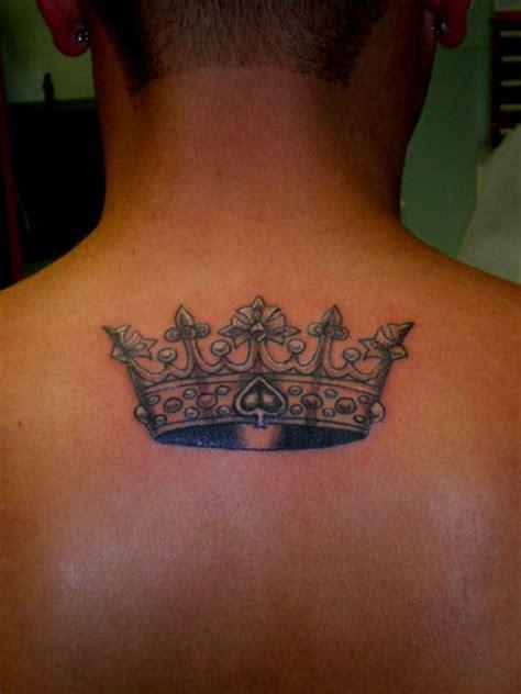 Superb Crown Tattoo Design On Upper Back Tattoos Book Superb Back Designs
