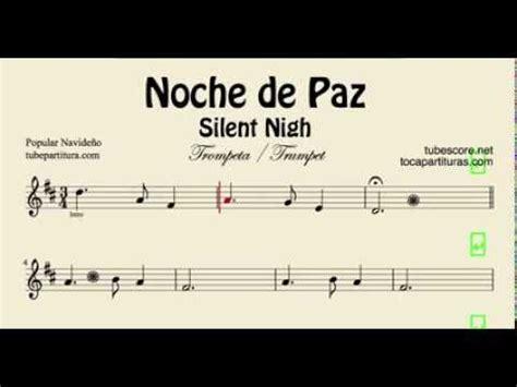tutorial piano noche de paz noche de paz partitura de trompeta y fliscorno en si bemol