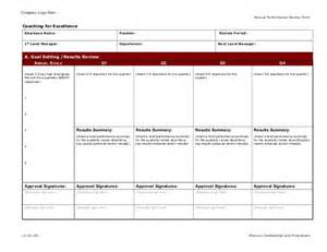 Annual Employee Evaluation Template by Coaching For Excellence Employee Annual Performance