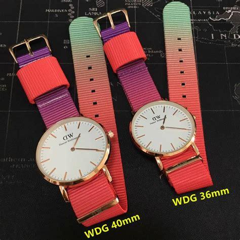 aliexpress zegarki daniel wellington z kolorowym paskiem aliexpress
