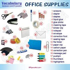 Office Supplies Names Office Equipment Office Equipment Vocabulary