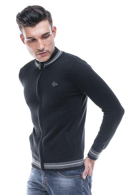 Sale Miller Grey Xl Pakaian Pria Kemeja Slim Fit Warna Abu Ukuran sweater casual kerah neck resleting hitam