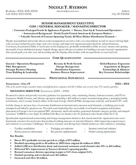 general resumes sles professional manager resume