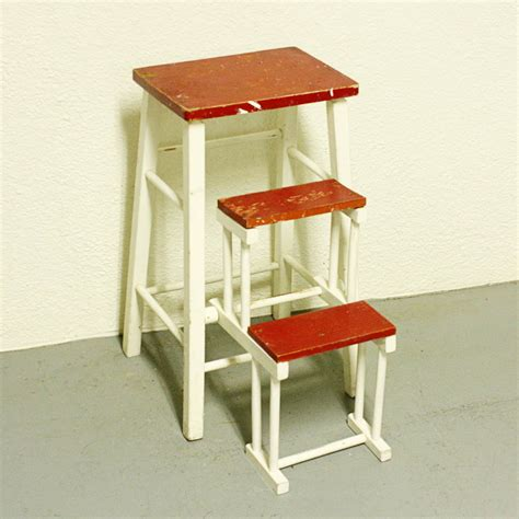 Step Stool Chair by Vintage Kitchen Stool Step Stool Stool Chair Fold Out