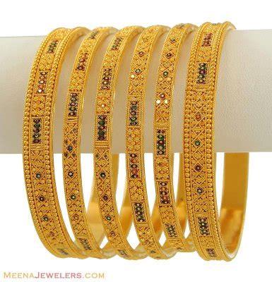 Bangles India Size L 9 indian bangles set 22k gold bast8646 22k gold