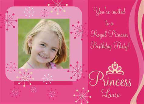 princess birthday invitation cards pretty princess invitation birthday invitations from cardsdirect