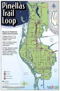 map of pinellas county florida pinellas trail loop maps
