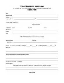 free printable fill in the blank resumes 1 - Free Printable Fill In The Blank Resume Templates