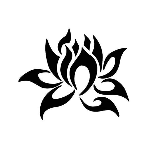 tribal stripes tattoo tribal lotus flower vinyl decal sticker aftermarket