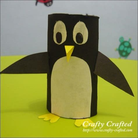 Arts And Craft With Toilet Paper Rolls - toilet paper roll penguin bricolage toilet