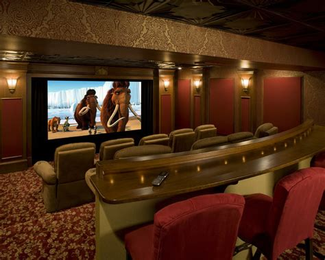 home theater decor pictures english pub home theater traditional home theater