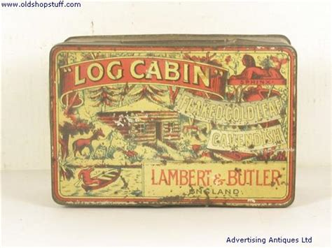 Log Cabin Tobacco by Shop Stuff Tobacco Tin Lambert And Butlers Log