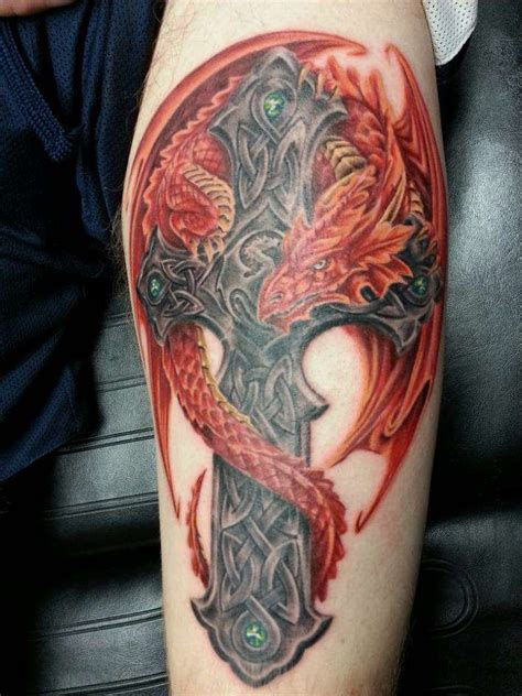 dragon and cross tattoos 25 best ideas about celtic tattoos on
