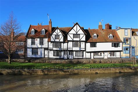 houses to buy in canterbury old houses by the river stour in canterbury in kent editorial photo image of east