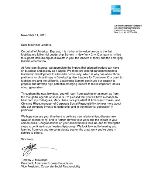 Dispute Letter To American Express Special Letter From Timothy Mcclimon President Of American Express F