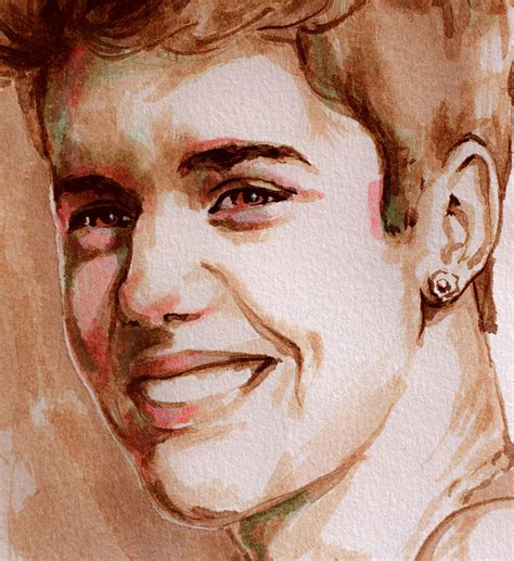 justin bieber painting justin bieber watercolor portrait painting by laur iduc