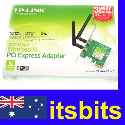 Tp Link 781nd Wireless N Pci Express Card 150mbps tp link tl wn881nd wireless n pci e 300mbps network card adaptor 2 4ghz 3y wty ebay