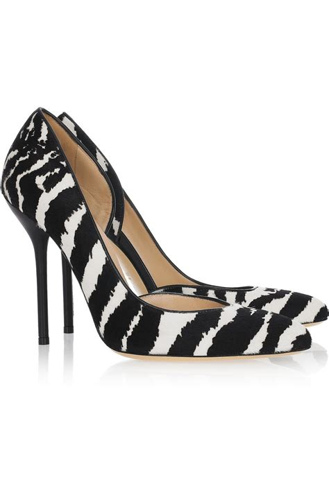 zebra shoes zebra print calf hair pumps