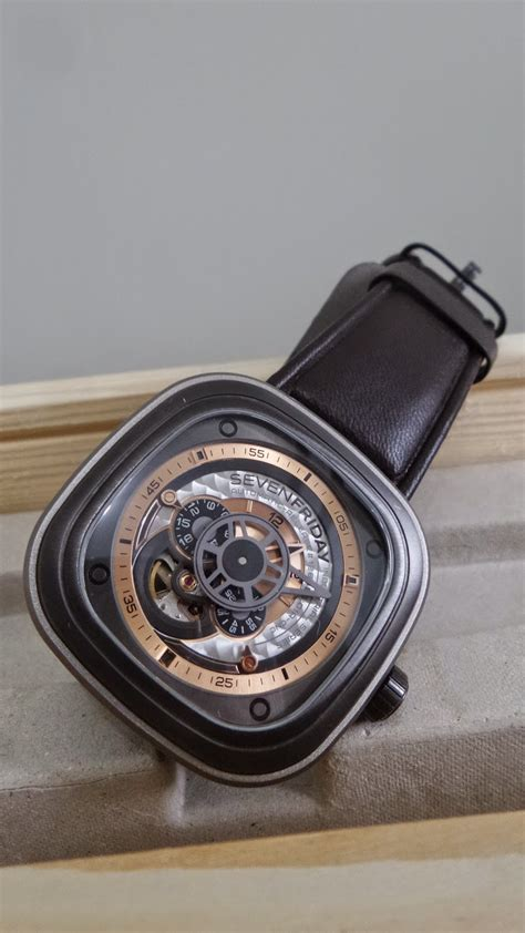 Jam Tangan Seven Friday P2 Date Black Leather Kw seven friday p2 1 sold