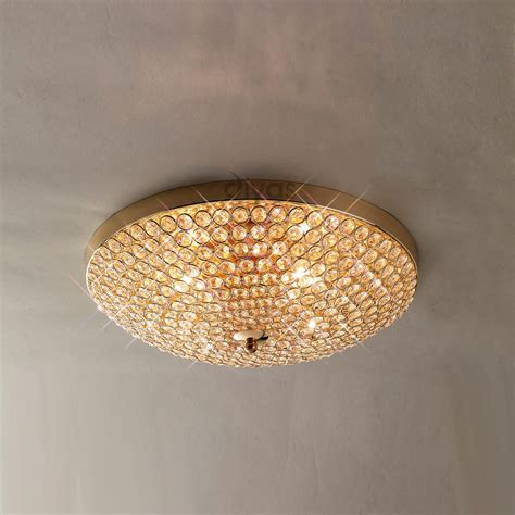 diyas il ava  light french goldcrystal ceiling light