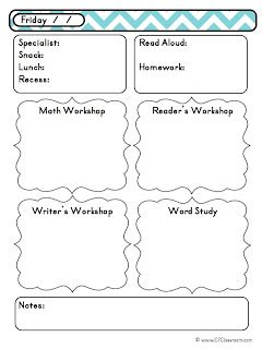 Week At A Glance Lesson Plan Template by Day At A Glance Daily Lesson Planning Lesson Plan