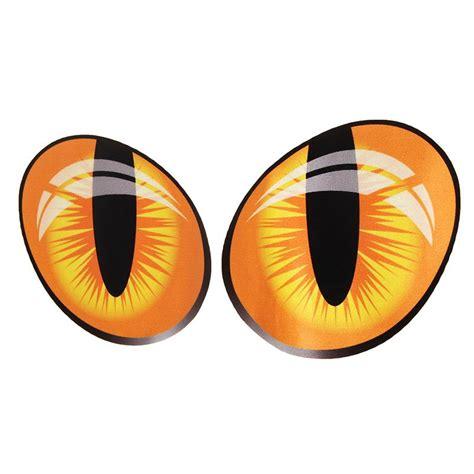 Stiker 3d Kucing stiker 3d mobil model mata kucing 2pcs orange