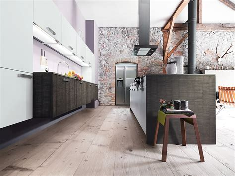 country küche natursteinwand wohnzimmer