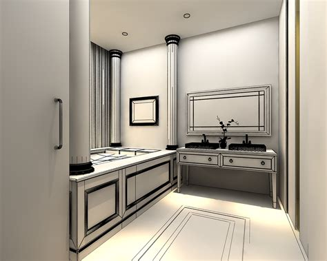 3d models photoreal bathroom 3d model max cgtrader