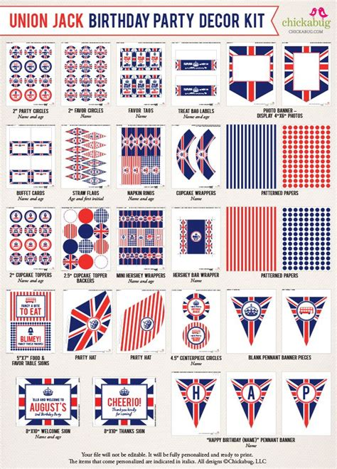 themes jack london new in the shop union jack party printable decor kits