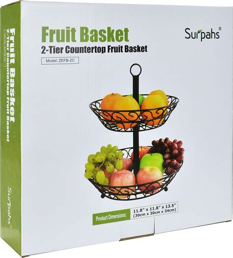Countertop Fruit Basket by 2 Tier Countertop Fruit Basket Stand Holder Vegetable