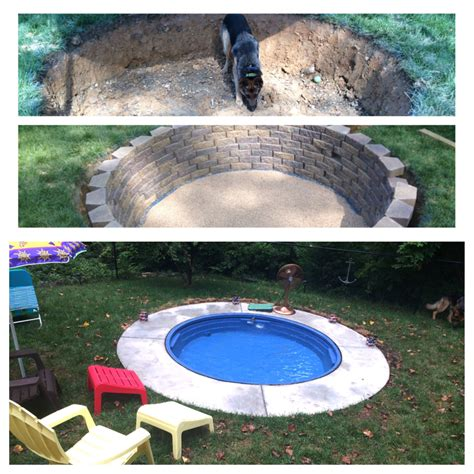 Mini Pool Build Using A Stock Tank From Tractor Supply Diy Backyard Pool