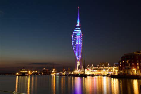 spinnaker tower  night shot