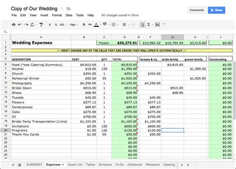 Wedding Expense Spreadsheet by 25 Best Ideas About Wedding Spreadsheet On