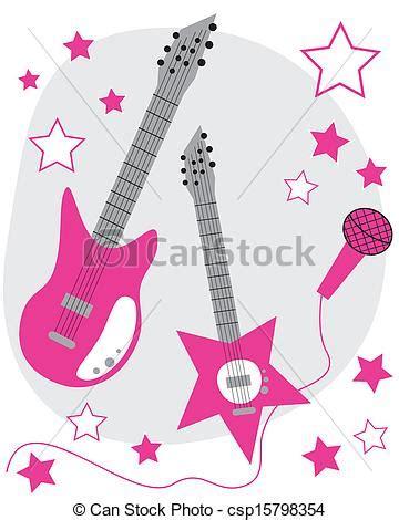 pink microphone clip art wallpaper clipart vector of rockstar hot pink rockstar guitars and
