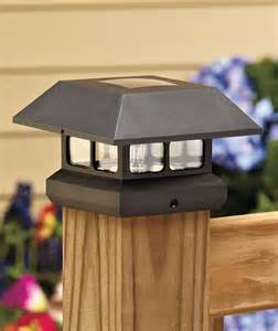 fence post solar light caps solar powered led fence post cap light ebay