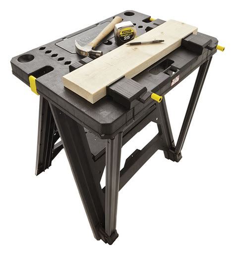 saw horse work bench stanley folding workbench bing images