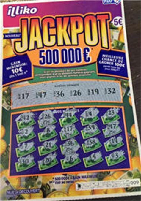 jackpot 500 000 de la marque illiko de la fdj grattage