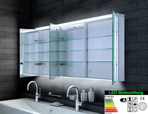 spiegelschrank illuminato spiegelschrank led breite 160 cm dreit 252 rig