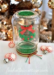 let it snow 2015 christmas mason jar snow globe crafts
