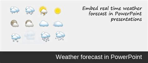 Add Weather Forecast In Powerpoint Presentation Weather Forecast Template