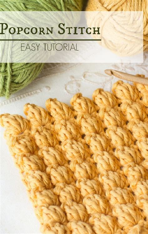 is crochet or knitting easier how to crochet the popcorn stitch easy tutorial