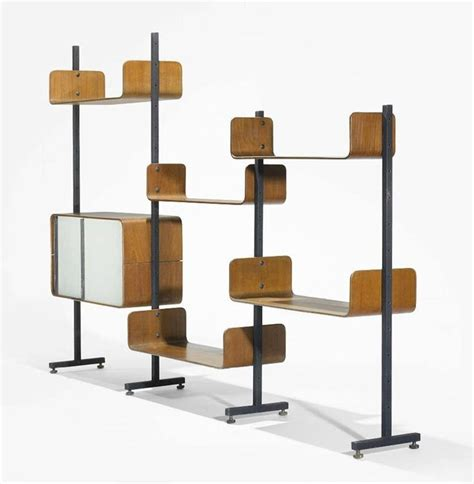 another mid century modular room divider shelving system