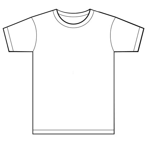 illustrator pattern outline t shirt template for kids clipart best