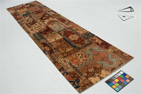 Patchwork Runner - patchwork design rug runner 3 x 12