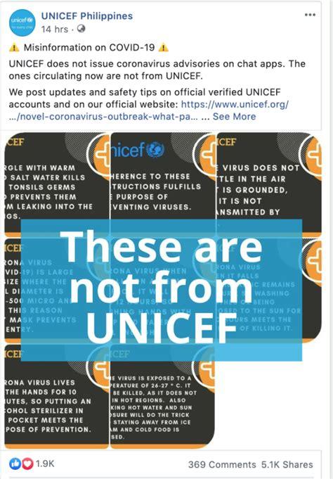 unicef refutes erroneous advisory  covid  global news